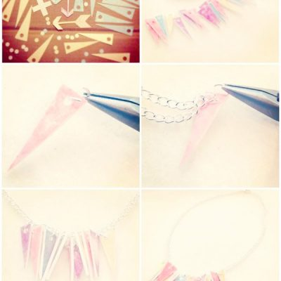 DIY// Pastel Pointed Necklace