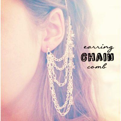 DIY// Earring Chain Comb