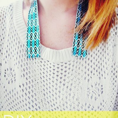 DIY Fabric and Chain Necklace