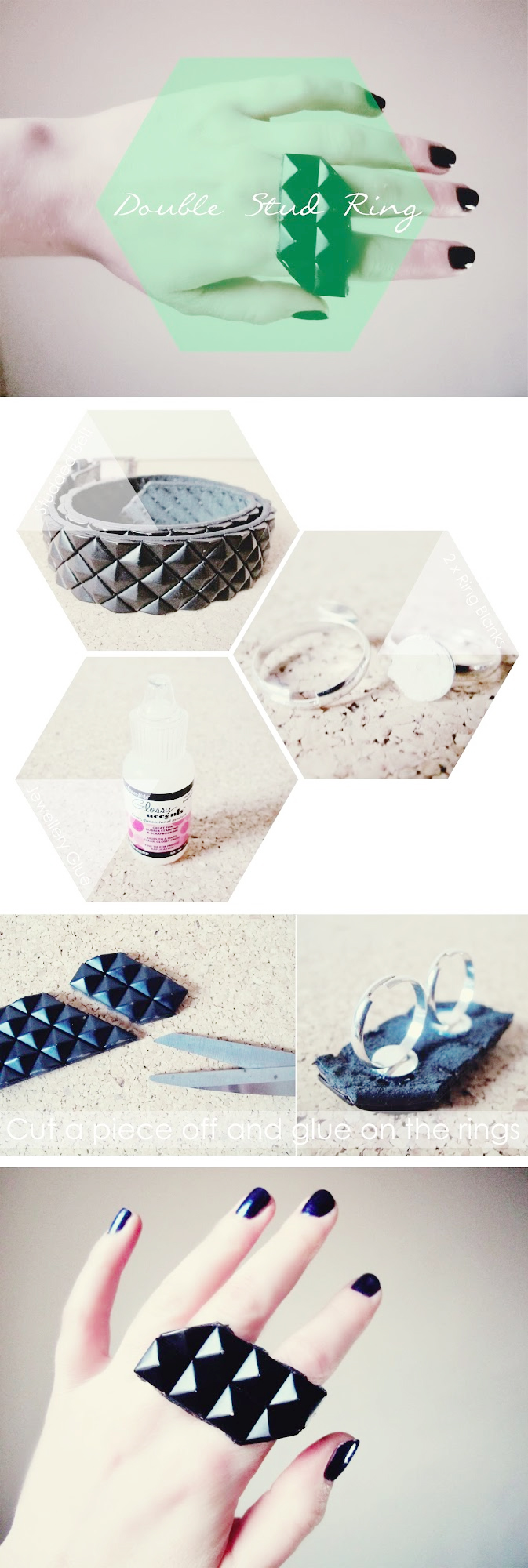 DIY Double Studded Ring