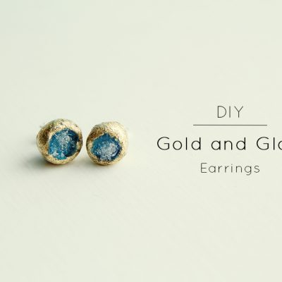 DIY// Gold and Glass Earrings