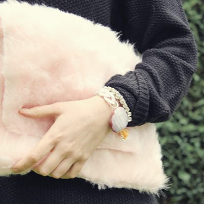 DIY// Pink Teddy Fur Clutch Bag