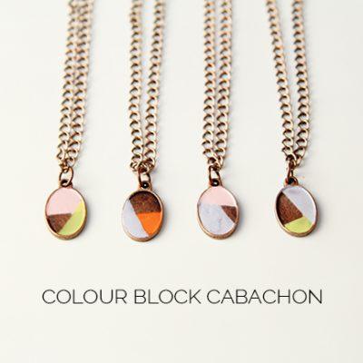 7 Days of Christmas Crackers // DIY Colour Block Cabachon