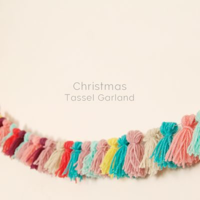 DIY Christmas Alternative Tassel Garland