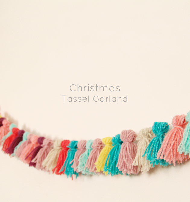 Diy Christmas Alternative Tassel Garland Fall For Diy