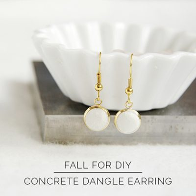 DIY Concrete Dangle Earrings