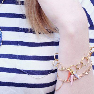 DIY Ring Link Bracelet