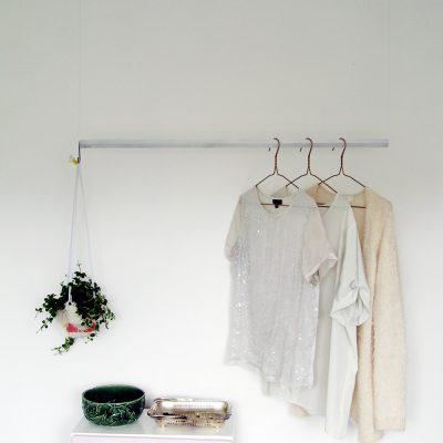 DIY Hanging Wardrobe Rail