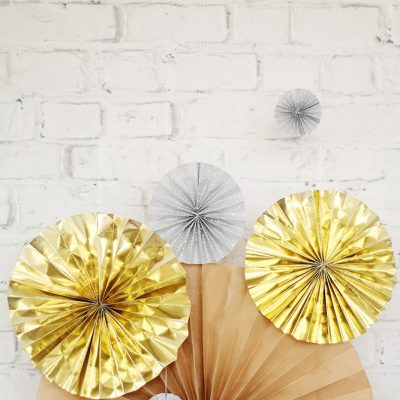 DIY New Years Eve Paper Fans