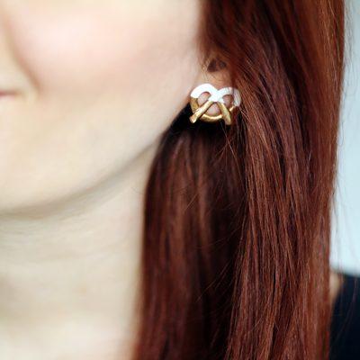 DIY Mark Jacobs inspired Pretzel Earrings