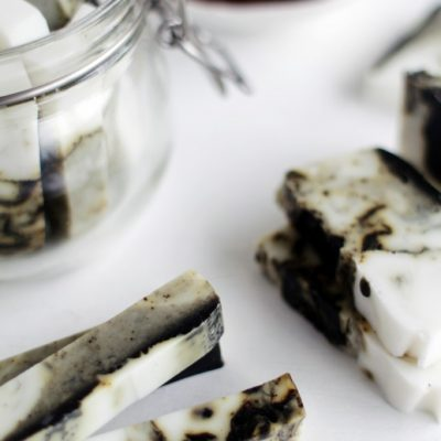 DIY Coffee and Coconut Soap Sticks