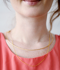 DIY Collar & Chain Necklace