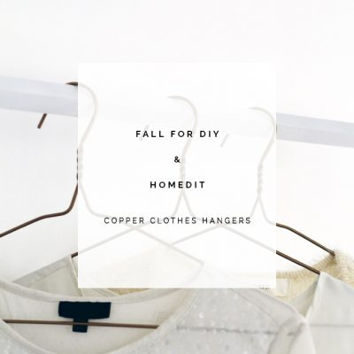 All in the Details | DIY Copper Wire Clothes Hangers