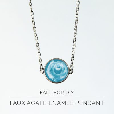 DIY Enamel Faux Agate Necklace