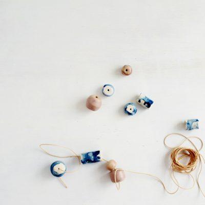 DIY Faux Ceramic Glazed Beads