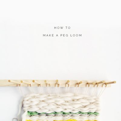 How to Make a Peg Loom