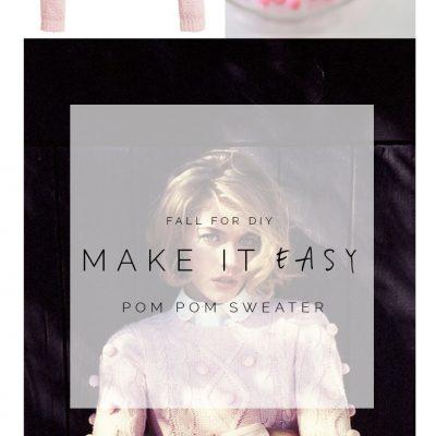 Make it Easy: Pink Pom Pom Sweater