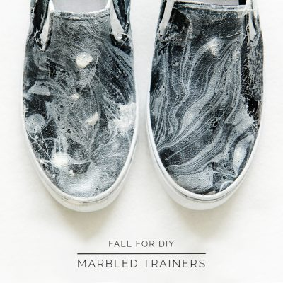 DIY Marbled Trainers