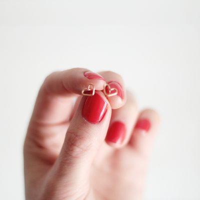 DIY Valentine's Sweet Heart Earrings