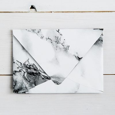 How to Make Marbled Contact Paper Envelopes
