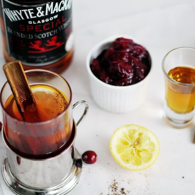 Cranberry Spiked Hot Toddy