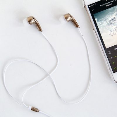 DIY Gold Earbud Headphones