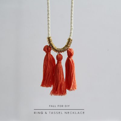 DIY Ring and Tassel Necklace