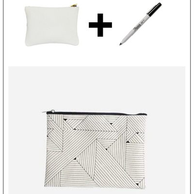 Make it Easy: Geometric Design Zippie Purse