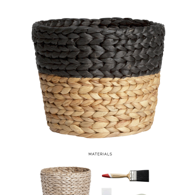 Make it Easy | Painted Paper Basket