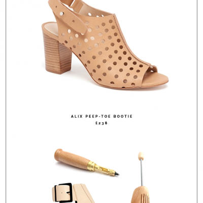 Make it Easy | Punched Peep Toe Booties