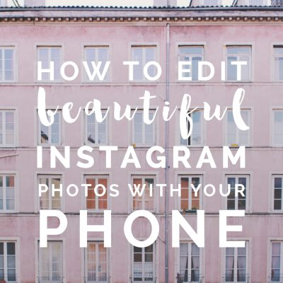 How to edit Beautiful Instagram Photos with your Phone