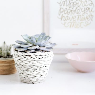 DIY Plaited Planter