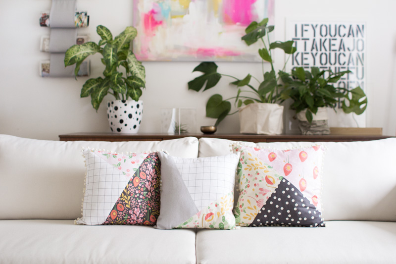 Pattern Blocked Pillow | Fall For DIY