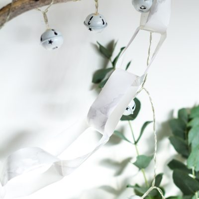 Marbled Paper Chain Christmas Decoration