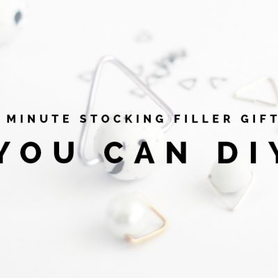 5 Minute Stocking Filler Gifts you can DIY
