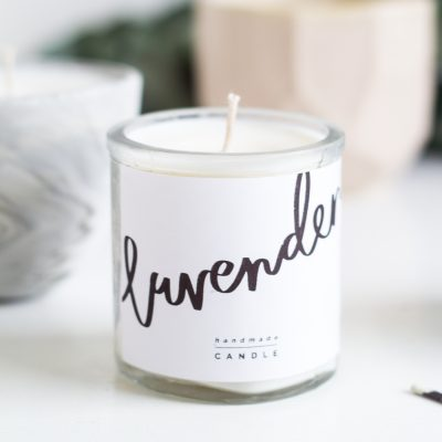 DIY Scented Candle Gifts & Free Printable labels