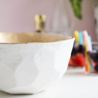 DIY Geometric Punch Bowl