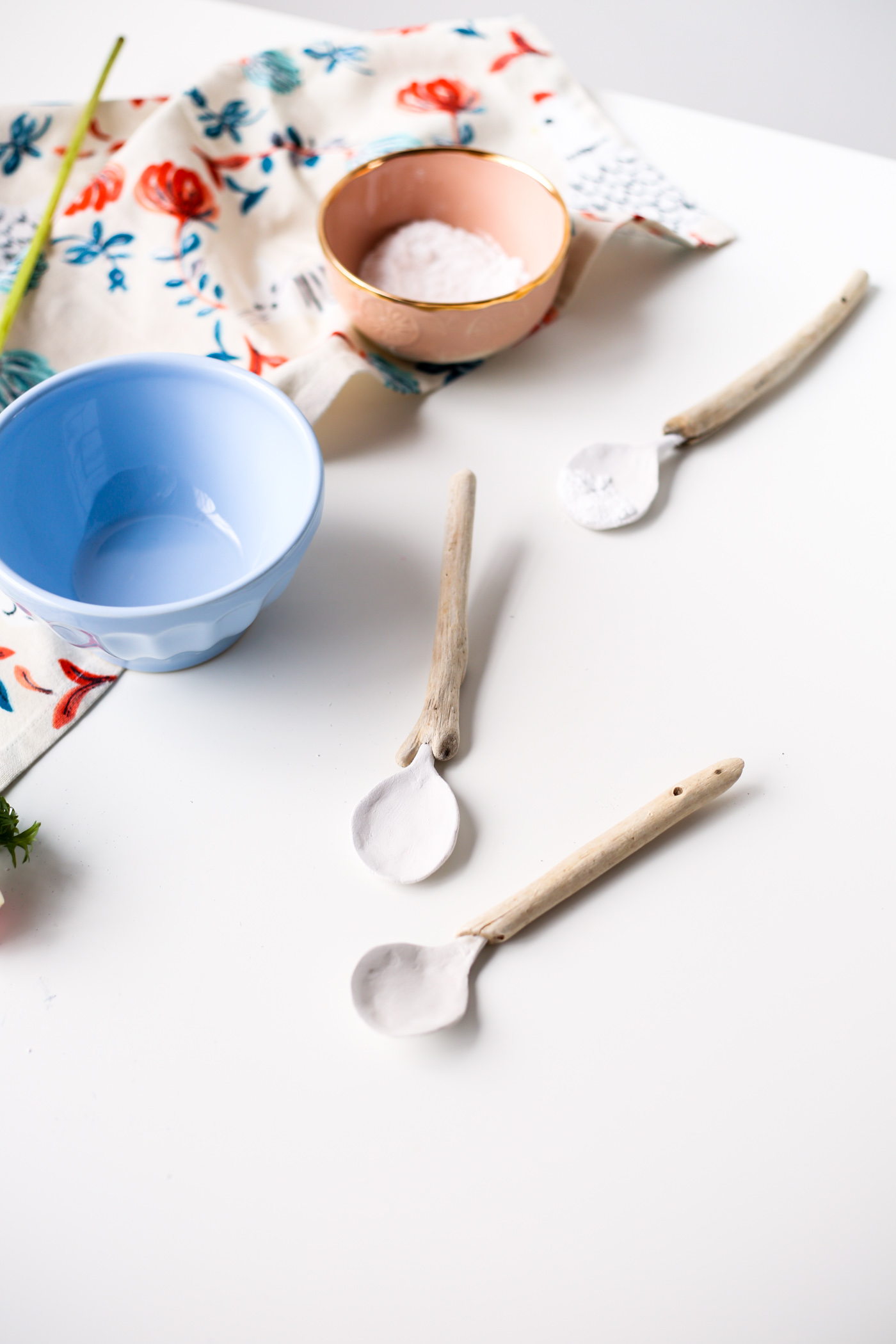 DIY Clay and Driftwood Spoons