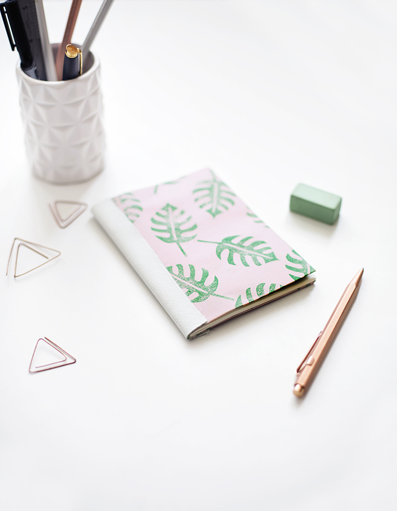 We Make Collective Launch Day Four | DIY Tropical Leather Spine Notebooks