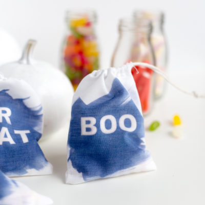 DIY Sun Dyed Halloween Treat Bags