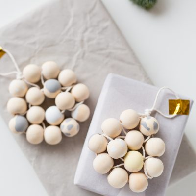 12 Shades of Christmas Day Four | DIY Beaded Gift Toppers