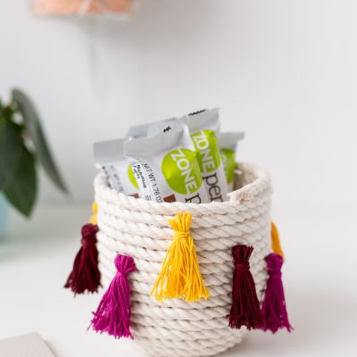 DIY Coiled Rope Tassel Snack Bowl