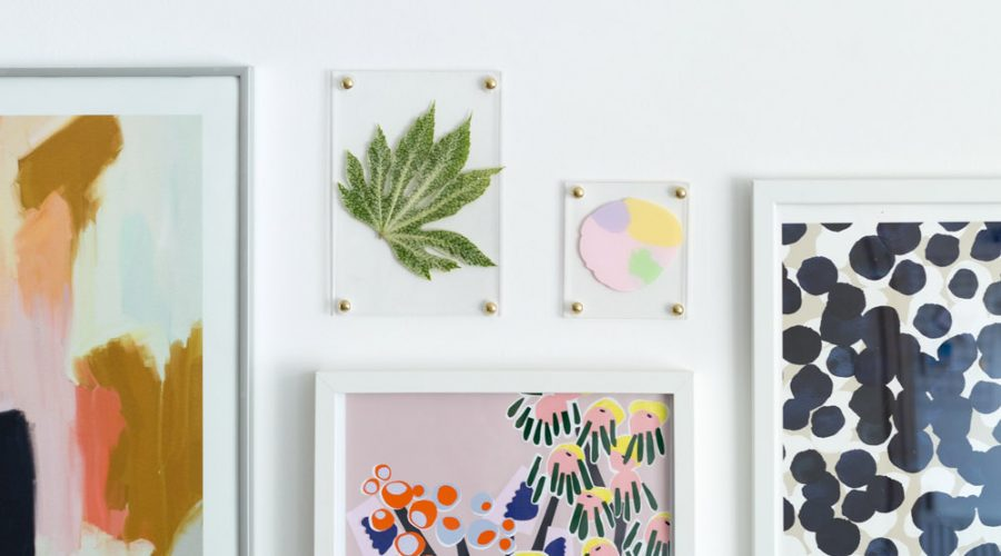 DIY No Drill Acrylic Picture Frames