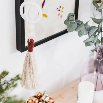 DIY Air Dry Hanging Festive Ornaments Tutorial