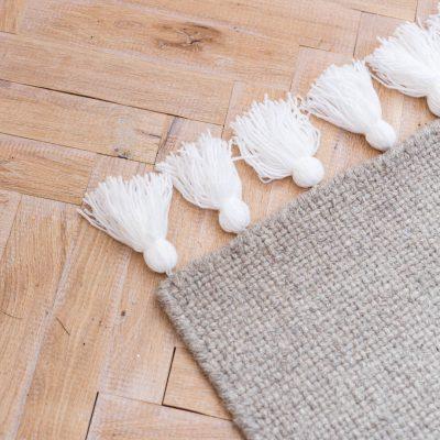 DIY Easy Tasseled Rug