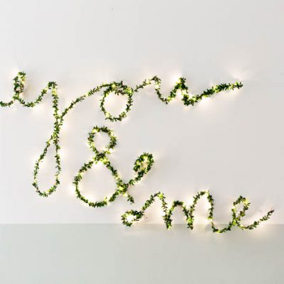 DIY Foliage String Light Sign with Hobbycraft