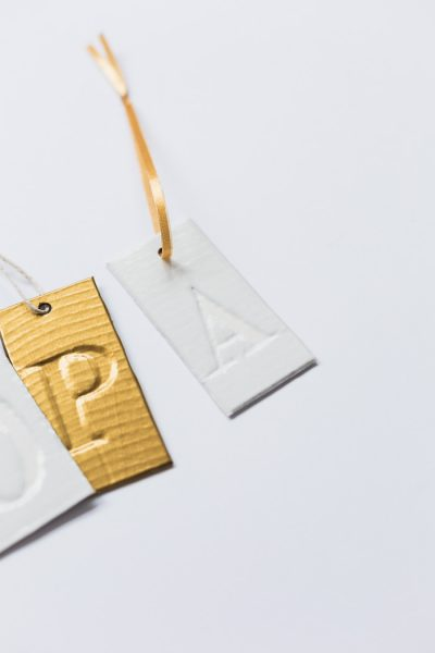 DIY Faux Embossed Gift Tags with Duck Tape | Fall For DIY