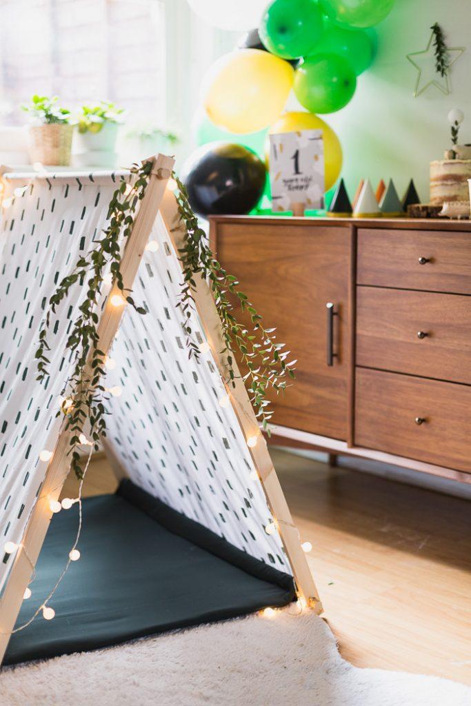 DIY Hand Printed Play Tent