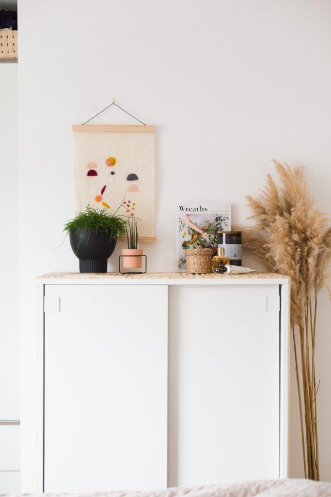 DIY Dowel Faced Cabinet IKEA hack