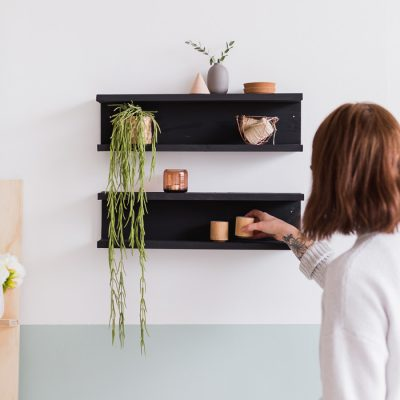 DIY Painted Wooden Shelving